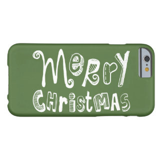 Merry Christmas - white Text Design Barely There iPhone 6 Case