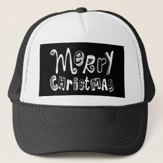 Merry Christmas - white Text Design Trucker Hat
