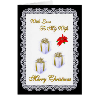 Merry Christmas / Wife Greeting Card