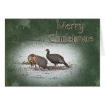 Merry Christmas Wild Turkey Card