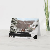 Merry Christmas - Winter Horse Ranch Holiday Card