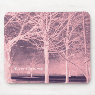 Merry Christmas Winter Landscape Mouse Pad
