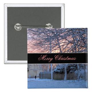 Merry Christmas - Winter Snow Button