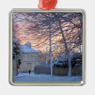 Merry Christmas - Winter Snow Metal Ornament
