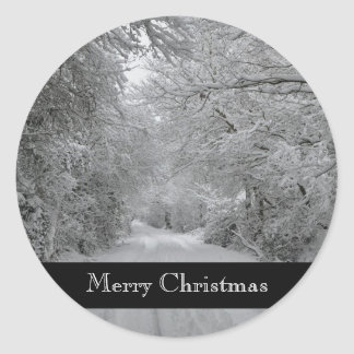 Merry Christmas Winter Sticker