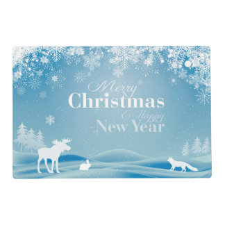 Merry Christmas Winter Theme Placemat