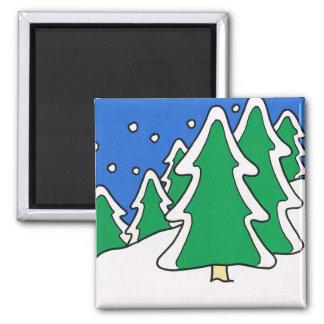 Merry Christmas,  Winter wonderland Magnet