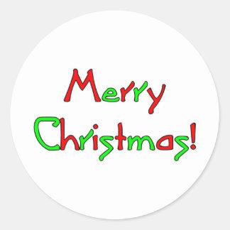Merry Christmas Wish Classic Round Sticker