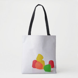 Merry Christmas with Candy Drops Tote Bag