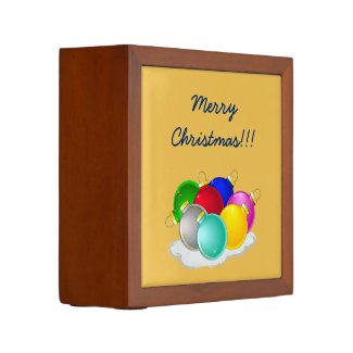 Merry Christmas with Colorful New year decorations Pencil Holder