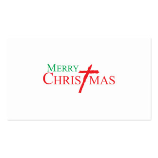Merry Christmas with Cross of Jesus Christ Cards