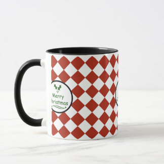 Merry Christmas with diamond pattern Mug