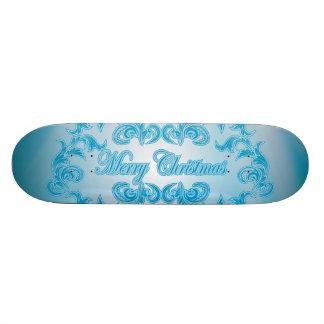 Merry Christmas with elegant, decorative damasks Skate Deck