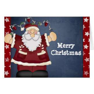Merry Christmas with Fun Santa Greeting Cards