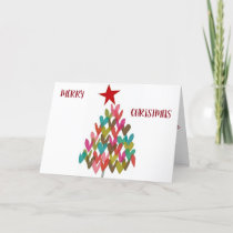 ***MERRY CHRISTMAS with HEART TREE** Holiday Card