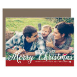 Merry Christmas With Love Photo Holiday Greeting Card at Zazzle
