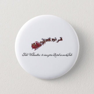 Merry Christmas with Santa Claus Button