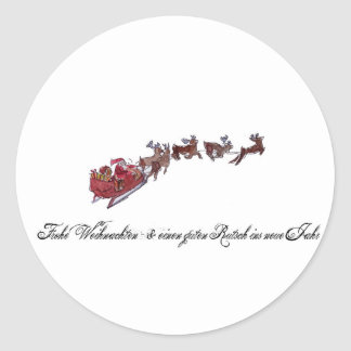 Merry Christmas with Santa Claus Classic Round Sticker