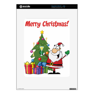Merry Christmas with Santa Claus Decal For iPad
