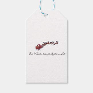 Merry Christmas with Santa Claus Gift Tags