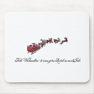 Merry Christmas with Santa Claus Mouse Pad