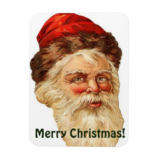Merry Christmas with Santa Claus Photo Magnet