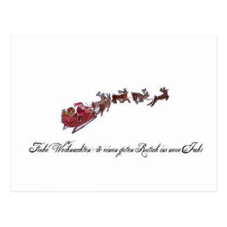 Merry Christmas with Santa Claus Postcard
