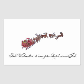 Merry Christmas with Santa Claus Rectangular Sticker