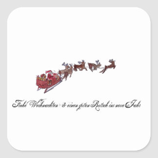 Merry Christmas with Santa Claus Square Sticker