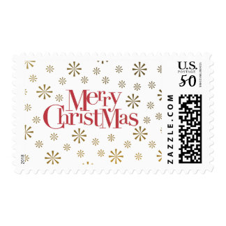 Merry Christmas with Snowflakes Postage