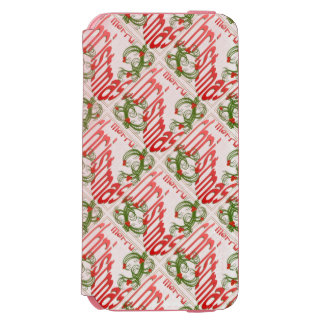 Merry Christmas With Stylized Holly Incipio Watson™ iPhone 6 Wallet Case