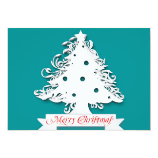 Merry Christmas with Tree Holiday Card