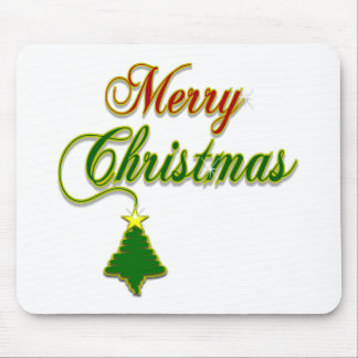 Merry Christmas with Tree Merchandise Mouse Pad
