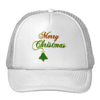 Merry Christmas with Tree Merchandise Trucker Hat