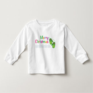 Merry Christmas with Winter Mittens Toddler T-shirt
