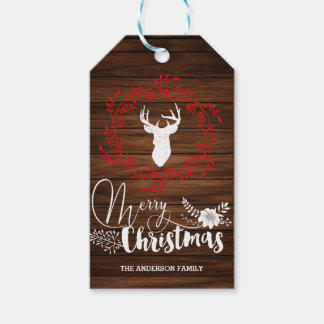 Merry Christmas wood gift tags