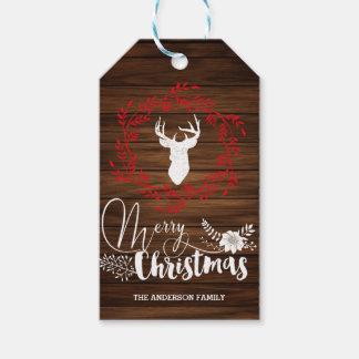 Merry Christmas wood gift tags