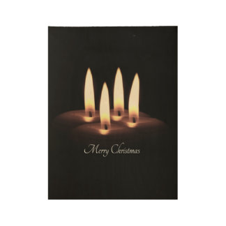 Merry Christmas Wood Poster