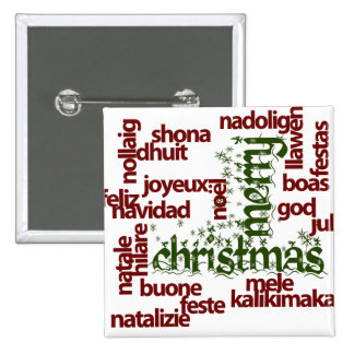 Merry Christmas Word Cloud Buttons