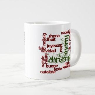 Merry Christmas Word Cloud Giant Coffee Mug