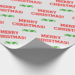 "[ Thumbnail: ""Merry Christmas!"" Wrapping Paper ]"