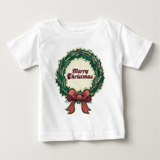 Merry Christmas Wreath Infant T-shirt