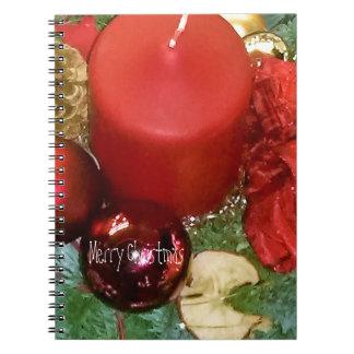 Merry Christmas Wreath Notebook