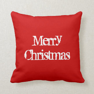 Merry Christmas WREATH on back red green pillow