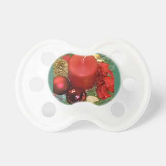 Merry Christmas Wreath Pacifier