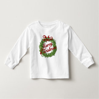 Merry Christmas Wreath Toddler T-shirt
