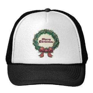 Merry Christmas Wreath Trucker Hat