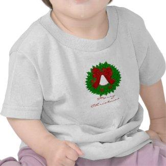 Merry Christmas Wreath Tshirt shirt