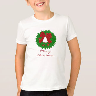 Merry Christmas Wreath Tshirt