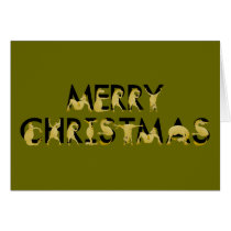 Merry christmas written in ponies! card
